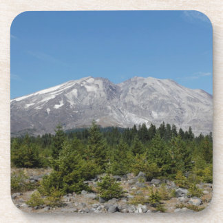 Mount Saint Helens wide angle early summer Beverage Coaster