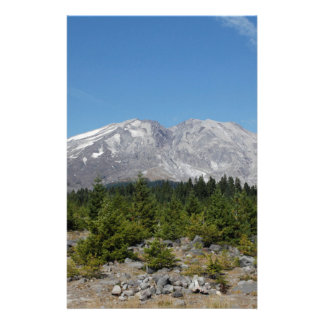 Mount Saint Helens wide angle early summer Customized Stationery