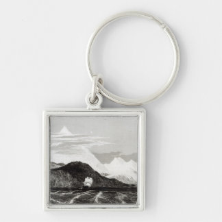 Mount Sarmiento, engraved by Thomas Landseer Keychain