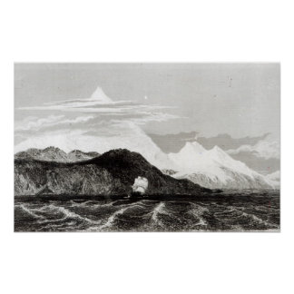 Mount Sarmiento, engraved by Thomas Landseer Poster