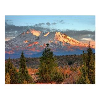MOUNT SHASTA AT SUNSET POSTCARD