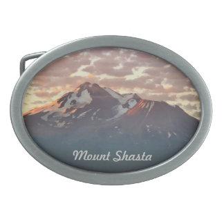 MOUNT SHASTA OVAL BELT BUCKLE
