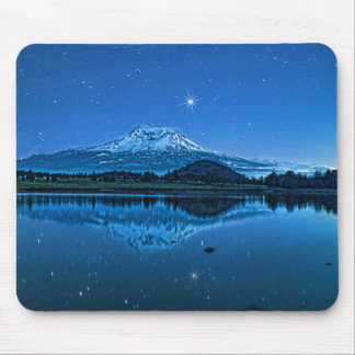 MOUNT SHASTA BY STARLIGHT MOUSE PAD