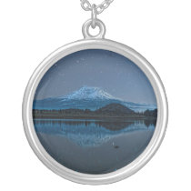 MOUNT SHASTA BY STARLIGHT SILVER PLATED NECKLACE