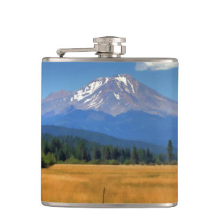 MOUNT SHASTA FROM McCLOUD Flasks