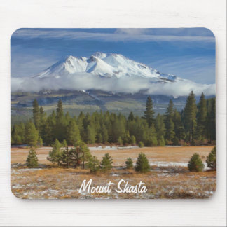 MOUNT SHASTA IN SNOW MOUSE PAD