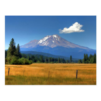 MOUNT SHASTA NEAR McCLOUD Postcard