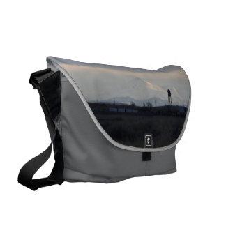 Mount Shasta: Sunset on Snow II SDL Bag 1 Courier Bag