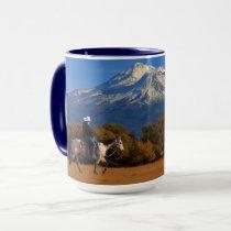 MOUNT SHASTA WITH HORSE AND RIDER MUG