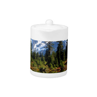 Mount Shuksan on a Sunny Day Teapot