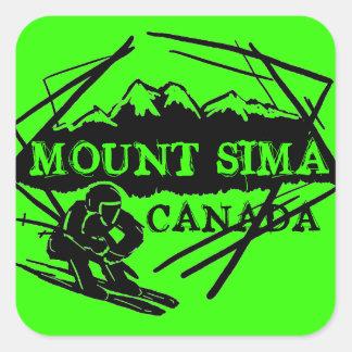 Mount Sima Canada ski stickers