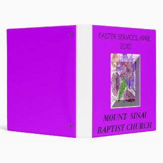 MOUNT  SINAI  BAPTIST CHURCH , EASTE... BINDERS