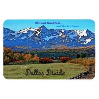 Mount Sneffels and the San Juans, Colorado Rectangular Photo Magnet