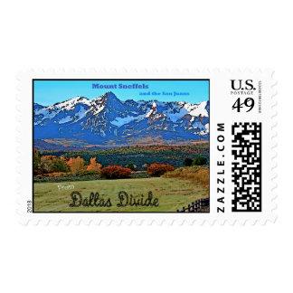 Mount Sneffels, Vintage Style Postage Stamp