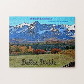 Mount Sneffels, Vintage Style Jigsaw Puzzles