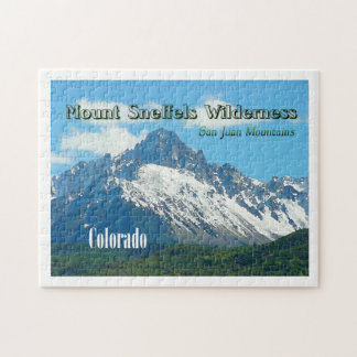 Mount Sneffels Wilderness Vintage Style Jigsaw Puzzle