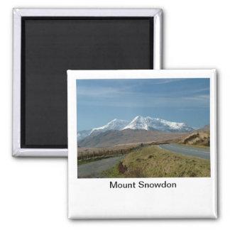 Mount Snowdon 2 Inch Square Magnet