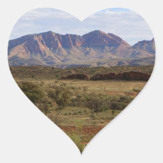 Mount Sonder, Central Australian Outback Heart Sticker