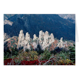 Mount Soraksan, in fall Card