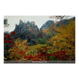 Mount Soraksan in fall Poster