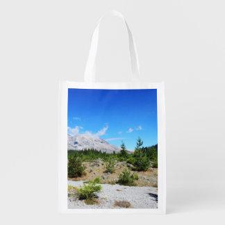 Mount St. Helen, volcano,  blue sky Market Tote