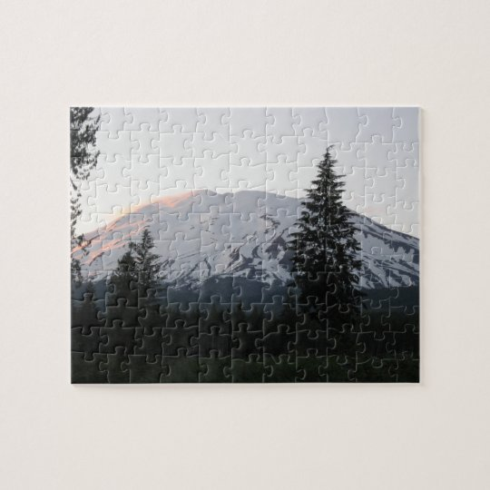 Mount St Helens at Sunset Puzzle