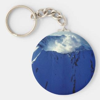 Mount St. Helens Basic Round Button Keychain