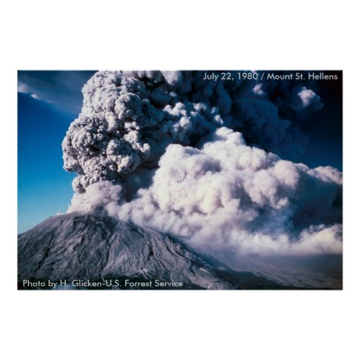 Mount St. Helens Blows Her Top Poster