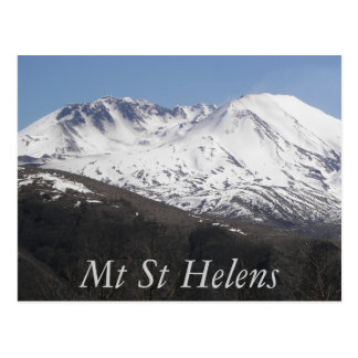 Mount St Helens Crater Travel Photo Postcard