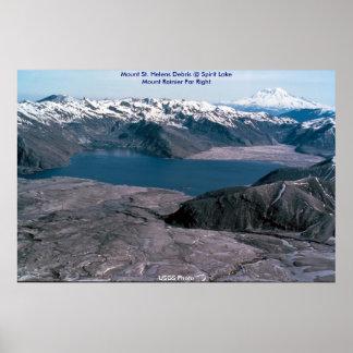 Mount St Helens Debris Spirit Lake Print