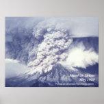 Mount St. Helens Eruption Poster Poster