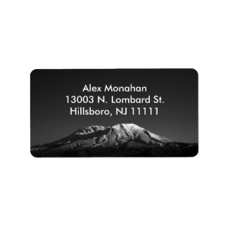 Mount St. Helens in Monochrome Custom Address Labe Label