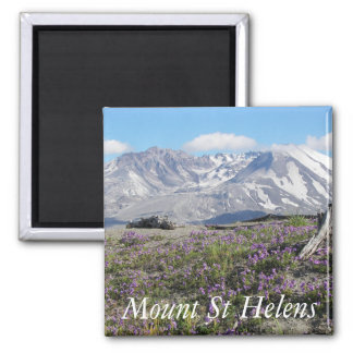 Mount St Helens 2 Inch Square Magnet