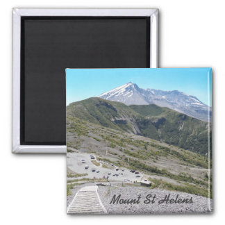 Mount St Helens Photo 2 Inch Square Magnet