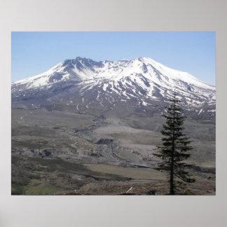 Mount St Helens Volcano Landscape Poster