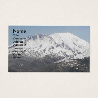 Mount St Helens Volcano Photo Business Cards