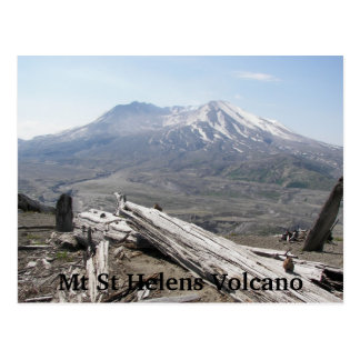 Mount St Helens Volcano Postcard