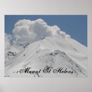 Mount St Helens Volcano Poster