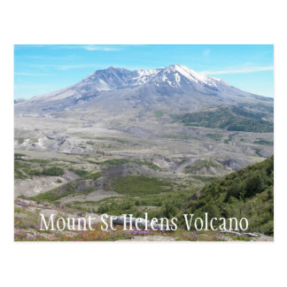 Mount St Helens Volcano Travel Postcard