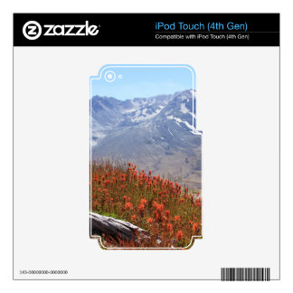 Mount St. Helens Wildflowers Decal For iPod Touch 4G