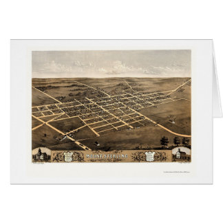 Mount Sterling, IL Panoramic Map - 1869 Card
