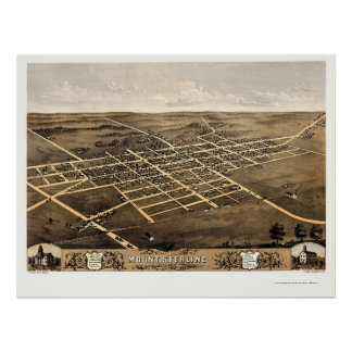 Mount Sterling, IL Panoramic Map - 1869 Poster