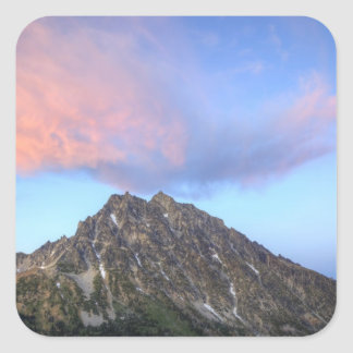 Mount Stuart, at sunset Square Sticker