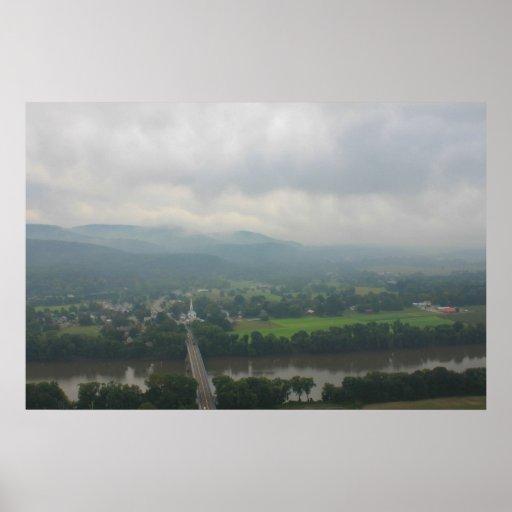 Mount Sugarloaf Stormy Skies Poster