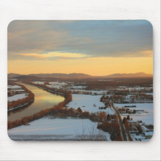 Mount Sugarloaf Winter Sunset Mouse Pad