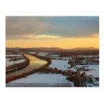 Mount Sugarloaf Winter Sunset Postcard