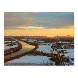Mount Sugarloaf Winter Sunset Postcard