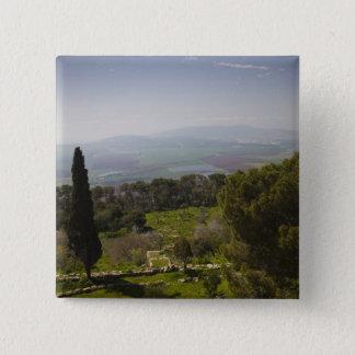 Mount Tabor, site of biblical transfiguration Pinback Button