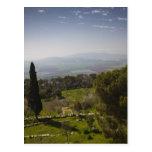 Mount Tabor, site of biblical transfiguration Postcard
