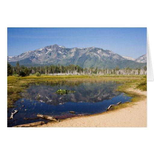 Mount Tallac Reflection-cardcopy Cards